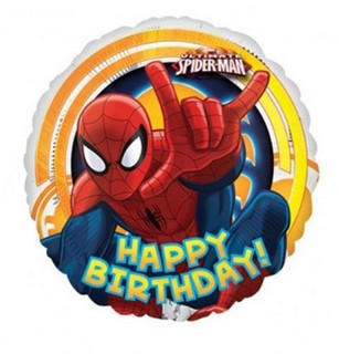 Spiderman Happy Birthday Balloon