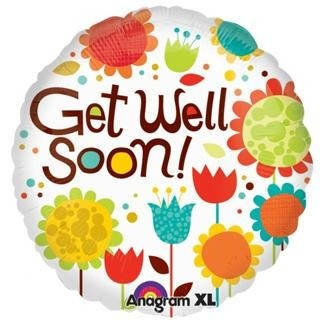 Cheery Flowers Get Well Soon Balloon