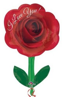 I Love You Rose with Stem Balloon
