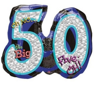 Oh No... 50th Birthday Balloon
