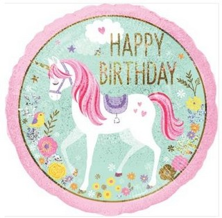 Magical Unicorn Birthday Balloon