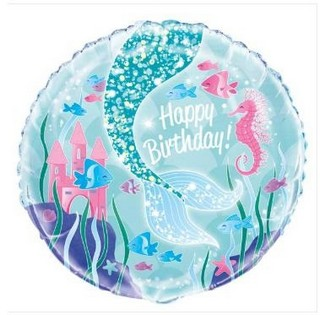 Mermaid Tail Birthday Balloon